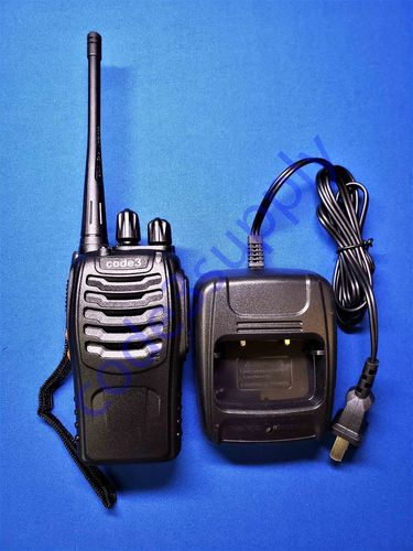 Code 3 UHF Radio Package with Charger, Battery, Headset, Antenna, Lanyard (C3-UW4)