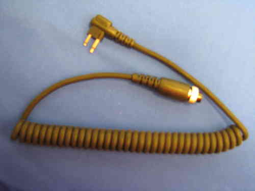 REPLACEMENT CORD FOR THROAT MICROPHONE M1 Motorola Two Pin
