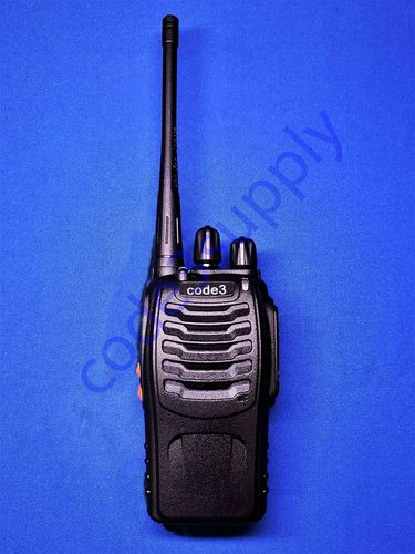 Code 3 UHF Radio - Radio only (with battery, antenna, and belt clip)